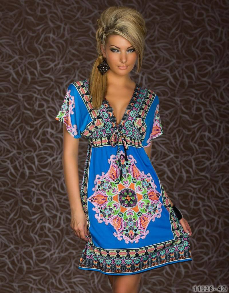 2cb984d4742 M XXL Plus Size 2014 New Fashion Women Retro 1960s 1970s Vintage Paisley  Printed Loose Bohemian Summer Beach Dress 4178-in Dresses from Women s  Clothing on ...