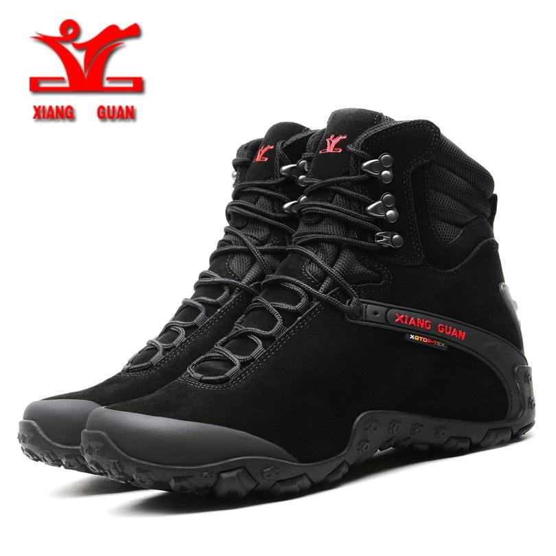 XiangGuan winter new Wear-Resistant Camping Men Boots Tactical Sneakers Climbing Waterproof Boots for men Women Hiking Footwear цена