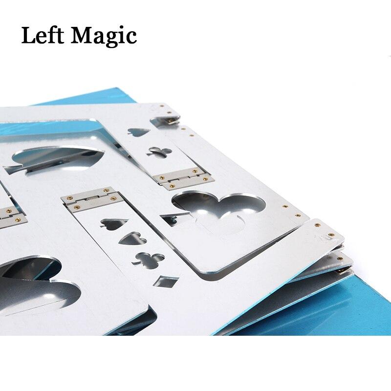 Table pliante magique en aluminium (alliage)-couleur argent tours de magie magicien meilleure scène de Table gros plan Illusions accessoires de magie - 6