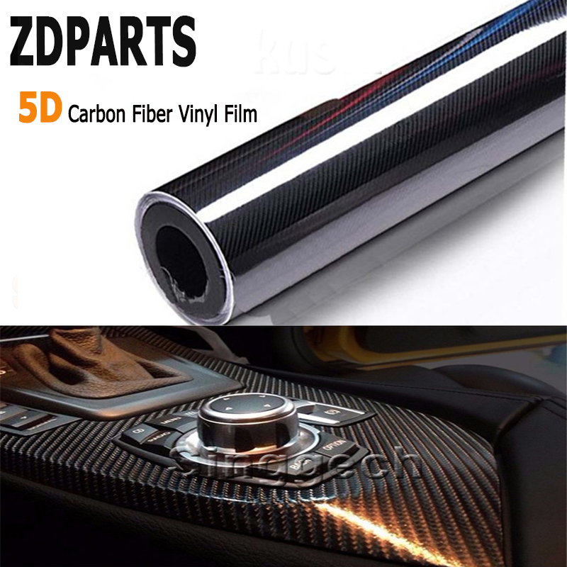 ZDPARTS 200*1520mm Car Styling 5D Carbon Fiber Vinyl Film Sticker For Ford Focus 2 3 Fiesta Mondeo Chevrolet Cruze Jeep Renegade