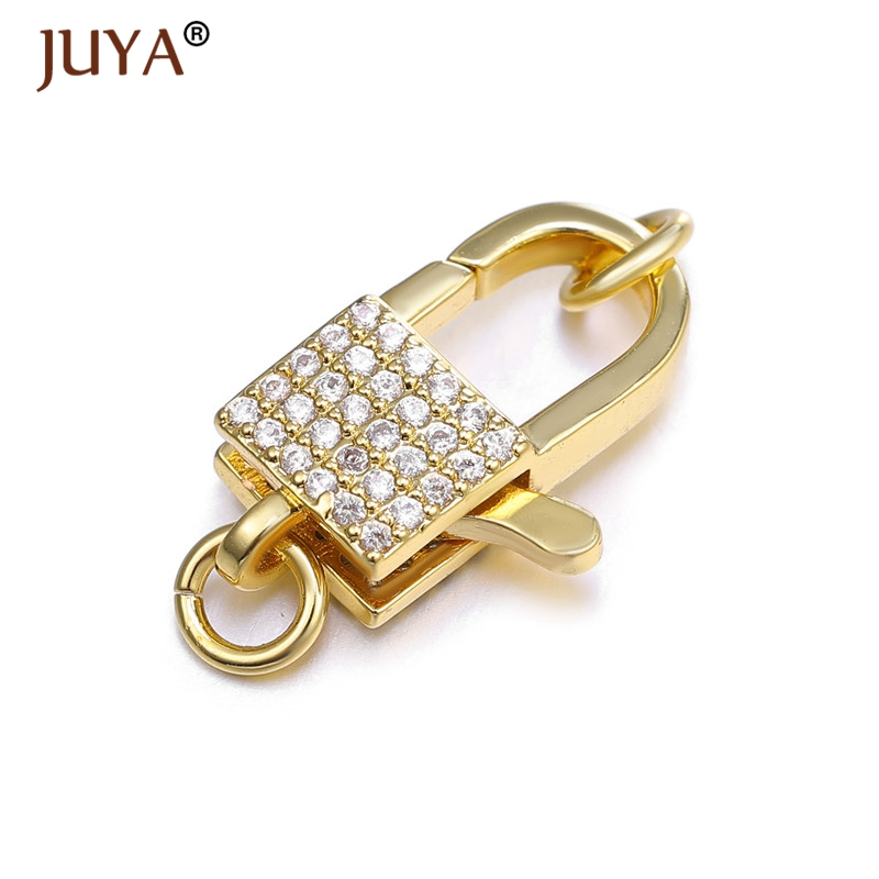 Juya Supplies For Jewelry Luxury Lock Shape Copper