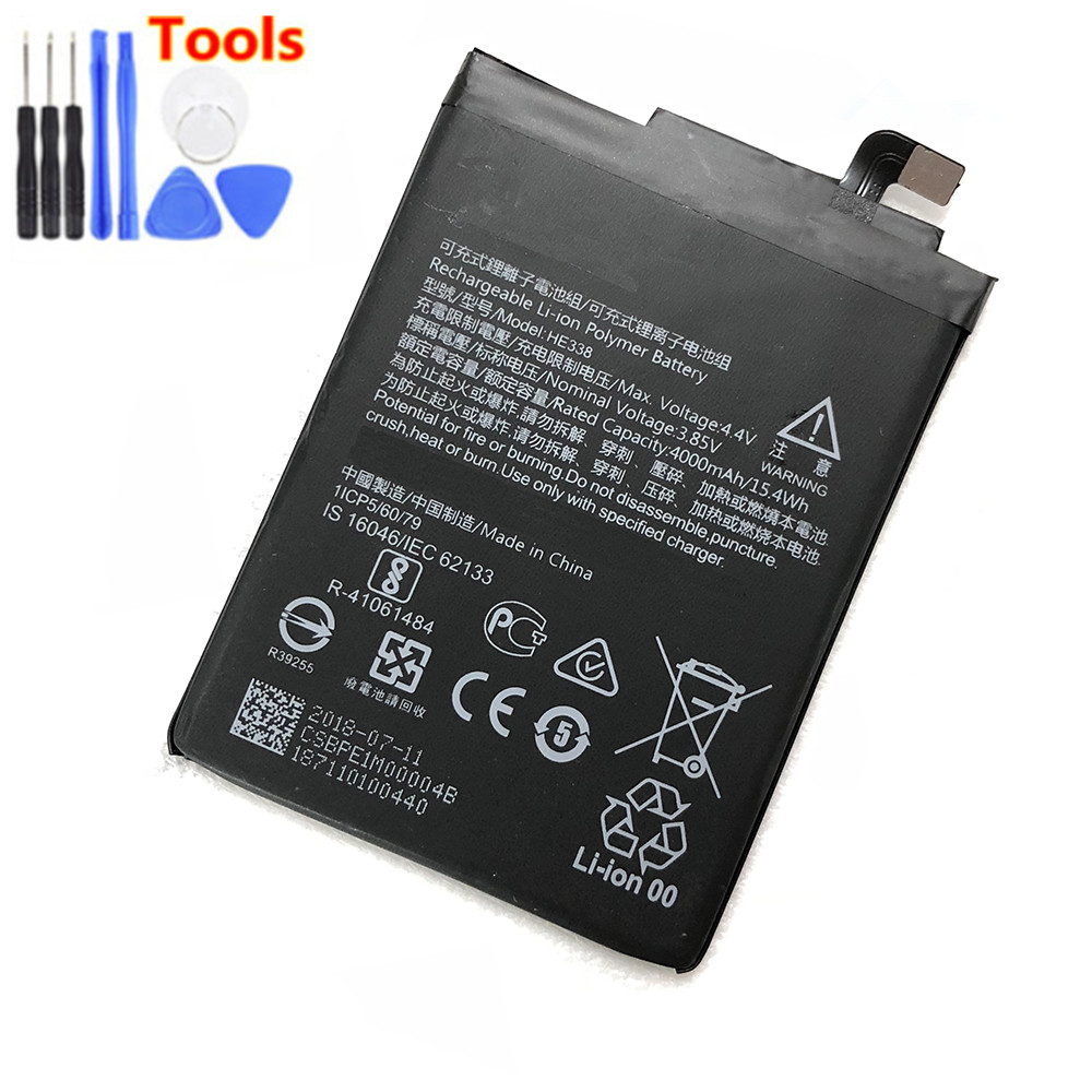 Original HE338 4000mAh Battery For Nokia 2 Nokia2 HE 338 Batteries Bateria Free Tools in Mobile Phone Batteries from Cellphones Telecommunications
