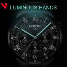 Relogio Masculino NIBOSI Mens Watches Top Brand Luxury Waterproof Stainless Steel Male Clock Dress Famous Business Watch Men2018