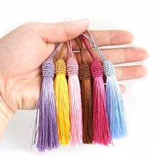10pcs/Pack Polyester Silk Tassels Fringe Trim 15cm Cotton Tassels Trim For Craft Making DIY Sewing Curtains Accessories(China)