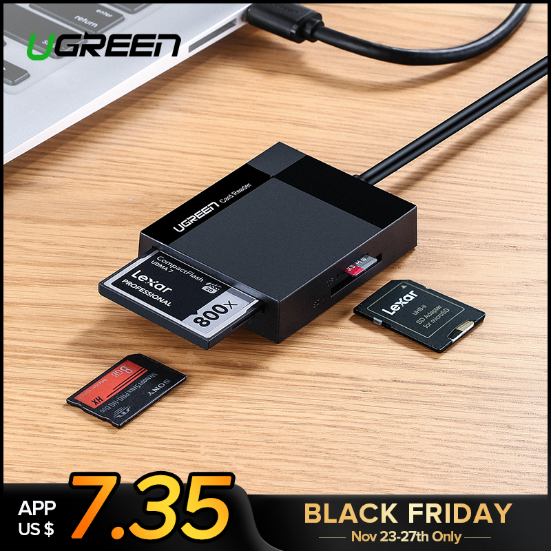 Ugreen Kartenleser USB 3.0 Alle in Einem SD/Micro SD/TF/CF/MS Compact Flash Smart speicher Karte Adapter Typ C OTG SD Kartenleser