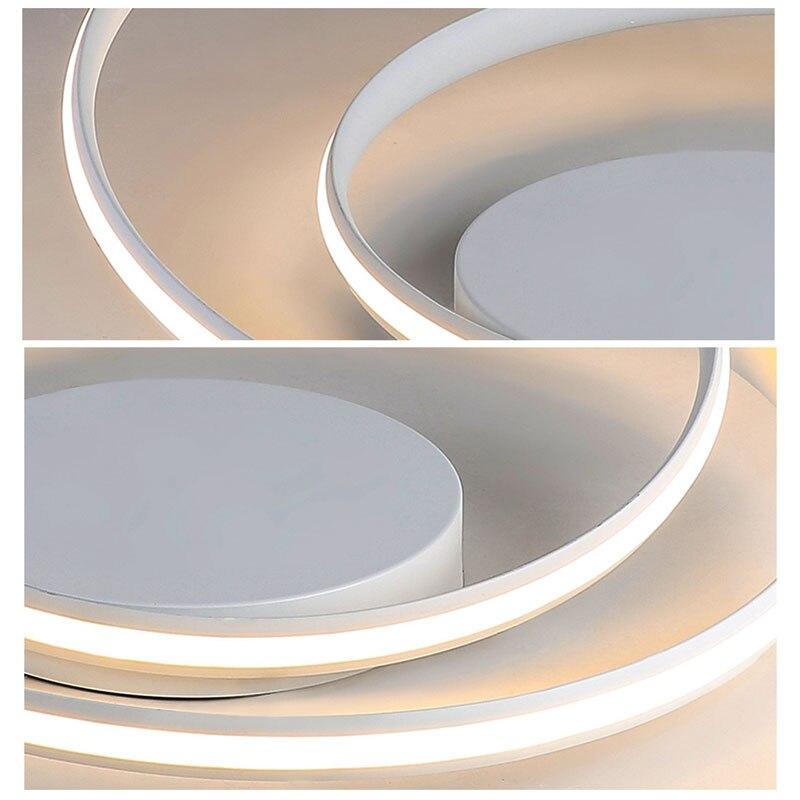 Image 4 - Offre spéciale plafond moderne à LEDs lumières pour salon chambre salle à manger Luminaires blanc et noir plafonniers Luminaires AC110V 220V-in Plafonniers from Lampes et éclairages on AliExpress