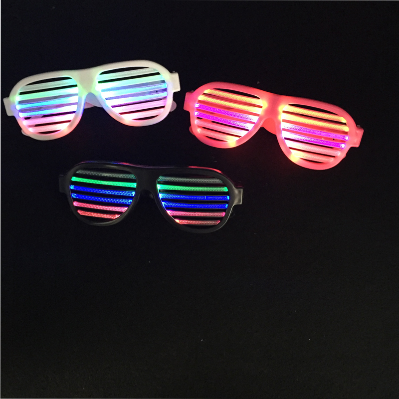 Sound Activated LED Flashing Glasses Halloween Glowing Party Decor USB Charge