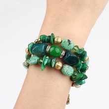 Boho Multilayer Beads Charm Bracelets for Women Ethnic Jewelry