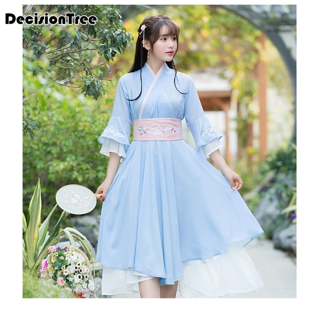 62b661311 2019 new chinese style women's hanfu costume cantonese embroidered skirt + clothes  traditional chinese beautiful dance hanfu