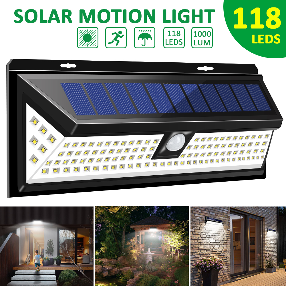 118 LEDs Solar Light 1000LM Super Bright Outdoor Solar Wall Lights with Motion Sensor & IP65 Waterproof PIR Motion Sensor 3.7V-in Solar Lamps from Lights & Lighting on Aliexpress.com | Alibaba Group
