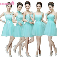 Sky Blue Fitted Short Ball Gown Gowns Girls Occasion Tulle Strapless Dresses Prom For Events Illusion