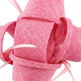 Новые женские шляпки с сеткой цвета хаки, модные женские шляпы с лентами для свадебной вечеринки, красивые аксессуары SYF570 - Цвет: baby pink