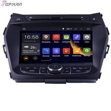 "Topnavi 8 ""octa Core 2 GB RAM Android 6.0 car Radios estéreo GPS para Hyundai ix45 2013-Audio reproductor de DVD"