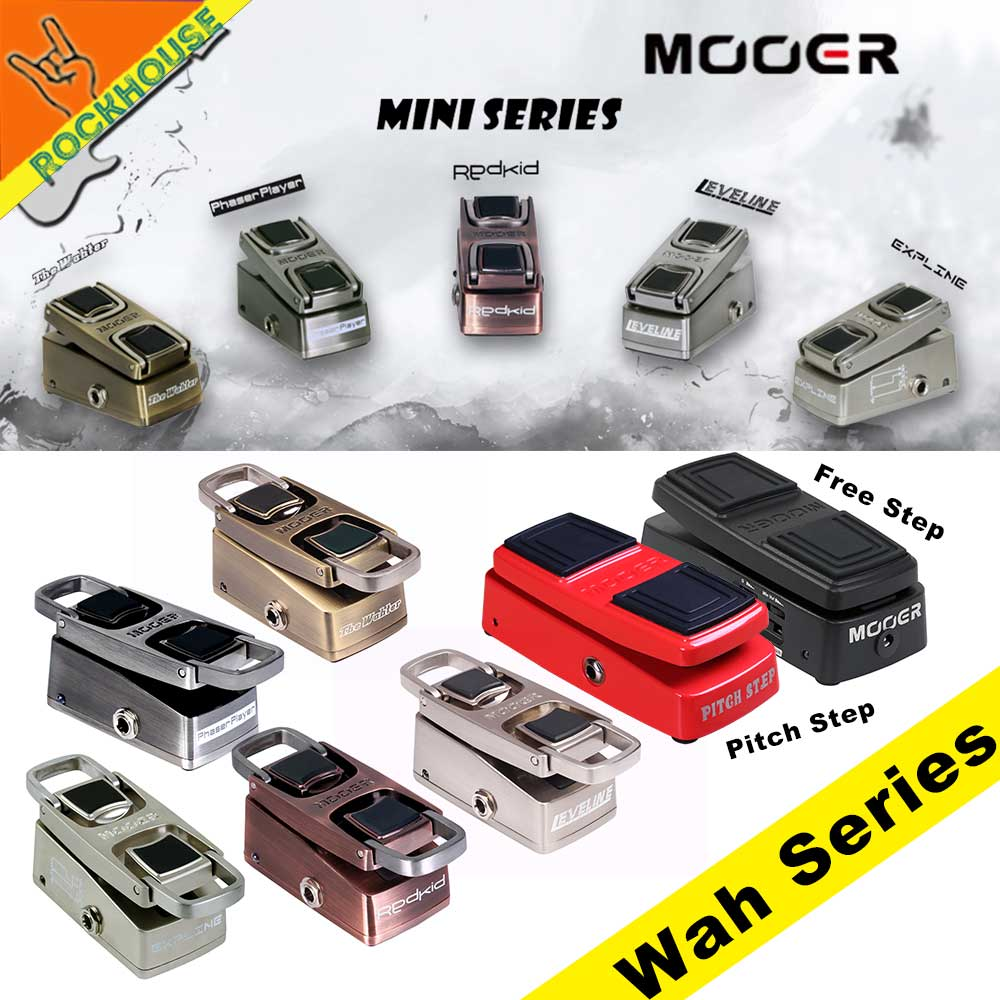 Mooer Wah Wah Guitar Effects Pedal Guitar Expression pedal Volume Pedal Foldable Vocal Simulator Analog Tone Free Shipping kw 1 multi function guitar 2 in 1 mini volume wah pedal toy musical instrument