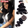 Brazilian Body Wave With Closure 4 Bundles Brazilian Virgin Hair With Closure 7a Unprocessed Virgin Human Hair With Closure