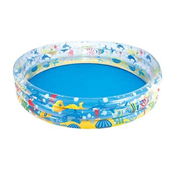 Baignoire Pour Bébé   2 Tailles Enfants Piscine Gonflable Piscine à Balles Marine Portable Extérieur Enfants Bassin Baignoire Enfants Piscine Bébé Piscine Eau