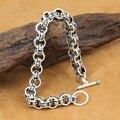 Handcrafted 925 Silver OM Mantra Bracelet Vintage Pure Silver Chain OM Bracelet Sterling Silver Man Bracelet