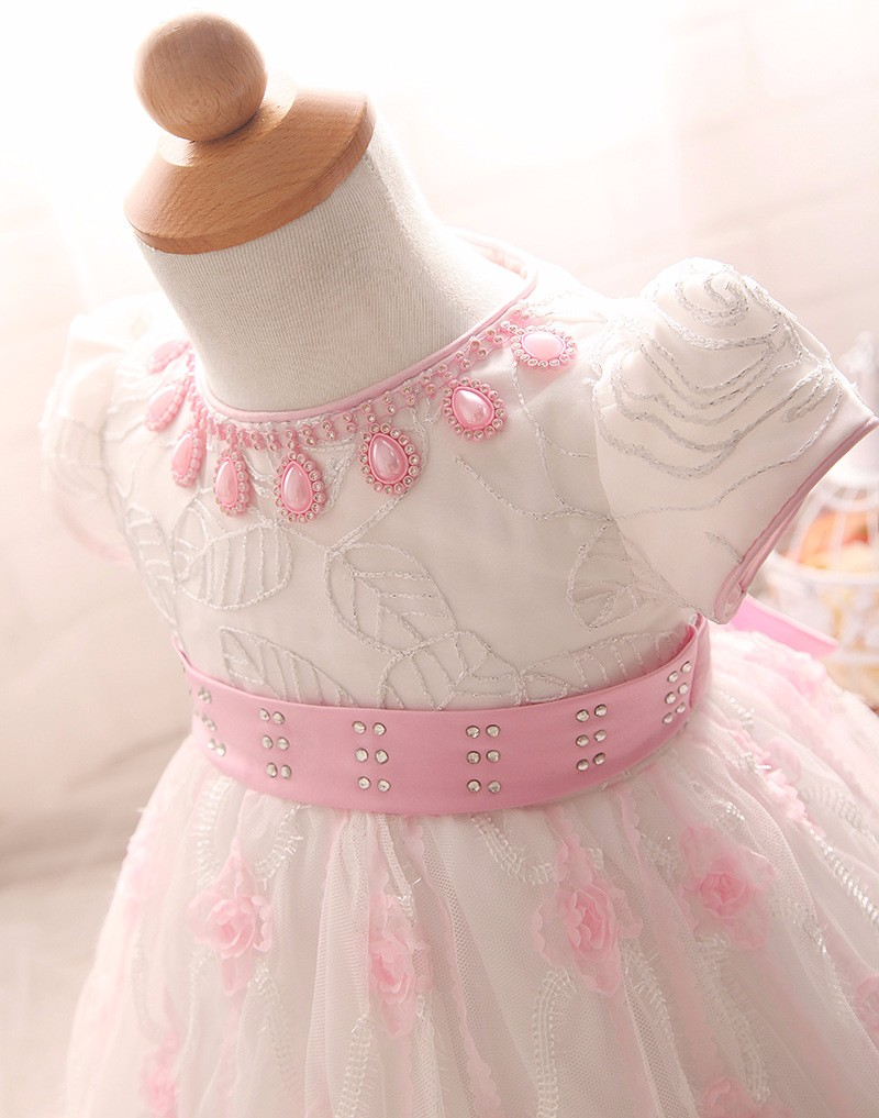 Baby Girls Dress 2016 New Fashion Kids Princess Birthday Party Tulle Wedding Dresses Christmas Dress Newborn Infant Clothes 0-2Y-4