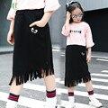 Nova Moda Saias Meninas Adolescentes Borla Tutu Saias Para Meninas crianças Crianças Marca de Roupas Saia 10 12 Anos de Roupas Meninas outono