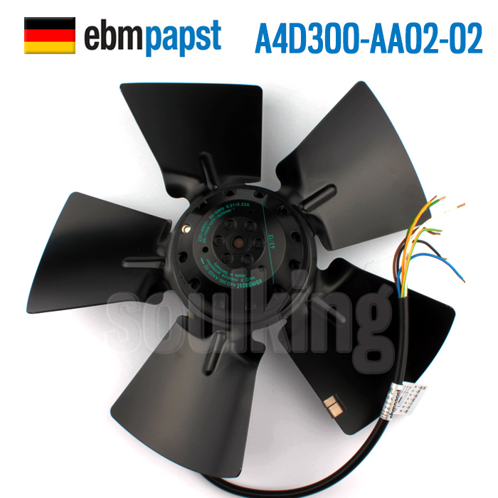 ebmpapst orginal  A4D300-AA02-02 230/400V 85/110W   outer rotor  axial flow fan цена