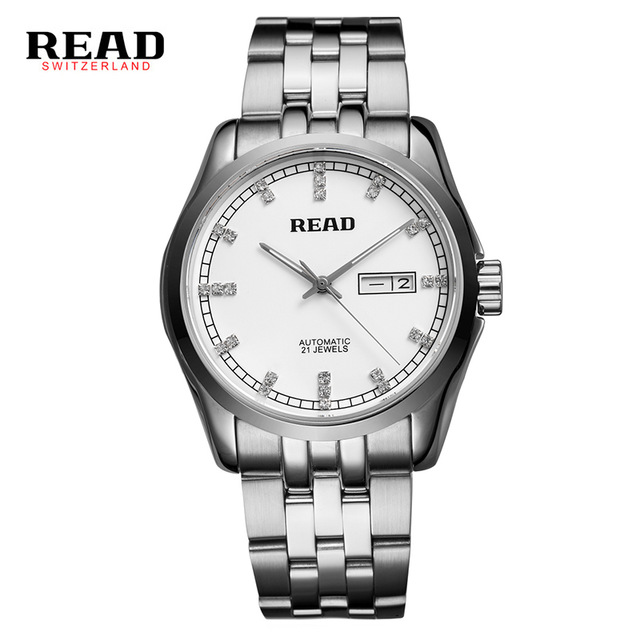 где купить Original READ Men Mechanical Watches Men Luxury Brand Full Steel Waterproof 50m Business Automatic Wristwatches For Men R8021 по лучшей цене