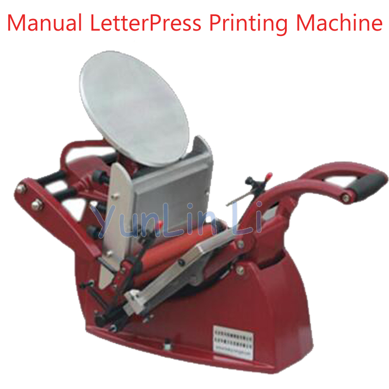 Manual LetterPress Printing Machine Press Letterpress Business Card Printer Press Manual Color Printing Press YJ-06
