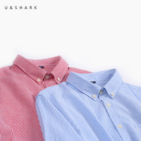 U SHARK Autumn New Classic Blue Striped Mens Dress Shirts Long Sleeve Casual Shirts Men 100