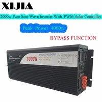 2000 Вт (peak4000W) чистый синусоидальный инвертор с солнечной контроллера 12 В 24 В до 220 В