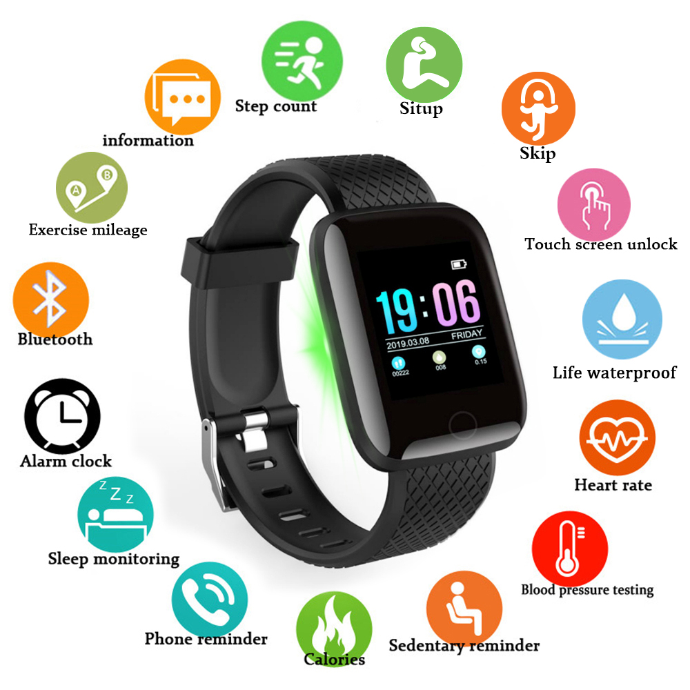D13 Relógio Inteligente Homens Mulheres Smartwatch À Prova D' Água Heart Rate Monitor de Pressão Arterial Rastreador De Fitness Esporte Relógio Para IOS Android