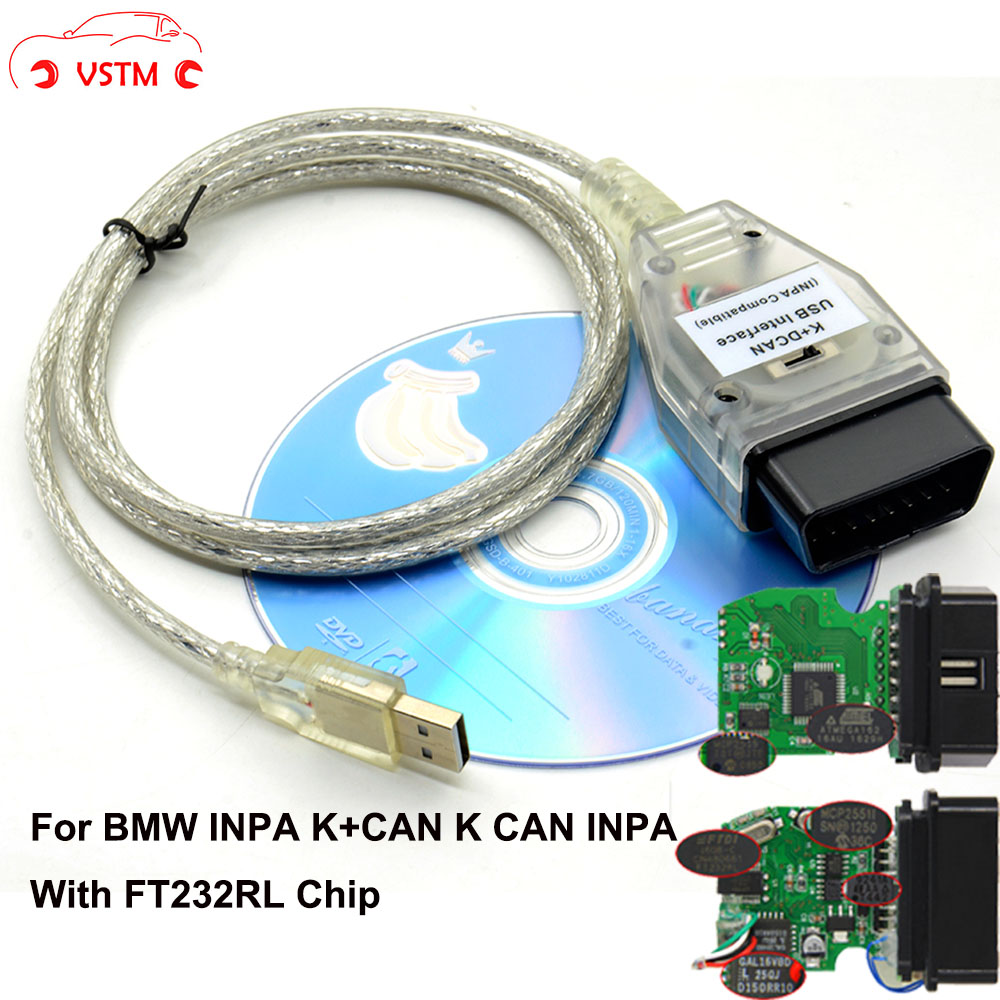 K+D CAN OBD2 USB Interface Cable For BMW INPA Ediabas NCS EXPERT ...