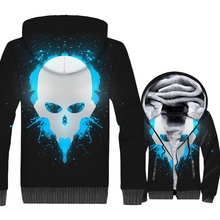 Game Sukll 3D Print Hoodie Men Hip Hop Hooded Sweatshirt Winter Thick Fleece Warm Zip up Coat Sweatshirt Jacket Brand Clothing недорого