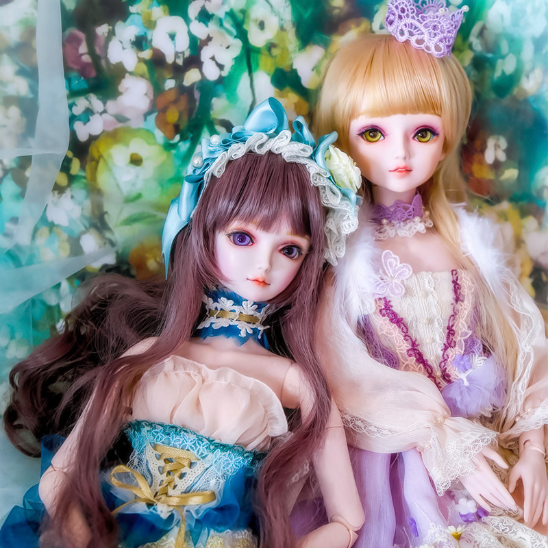 Fashion toy Night Lolita Princess Pink Skin 14 BJD Doll 18 jointed dolls Cute Alice Ye luoli Toy Makeup