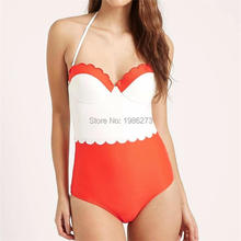 2018  Black white red adult swim figures Young girl swimwear swimming trunks Halter patchwork one piece swimsuits swim suit D003