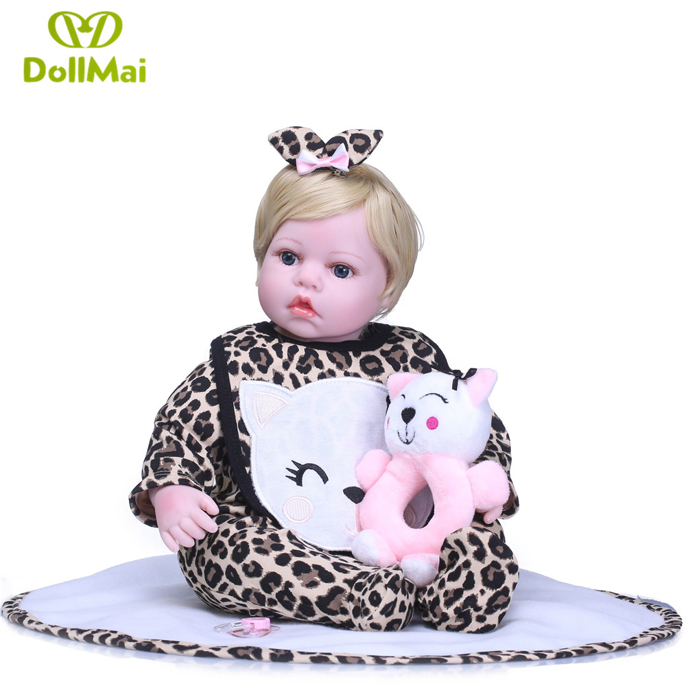 22 boneca reborn babies dolls soft silicone reborn baby dolls with cat clothing rattle for children bebe gift reborn22 boneca reborn babies dolls soft silicone reborn baby dolls with cat clothing rattle for children bebe gift reborn