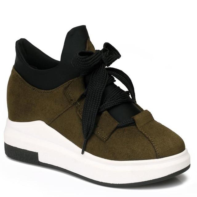 9eadc99f6 Sapatas da mulher Real LISCN Marca Hot 2018 Alta Qualidade para Mulheres  Wedge Altura Crescente Sapatos