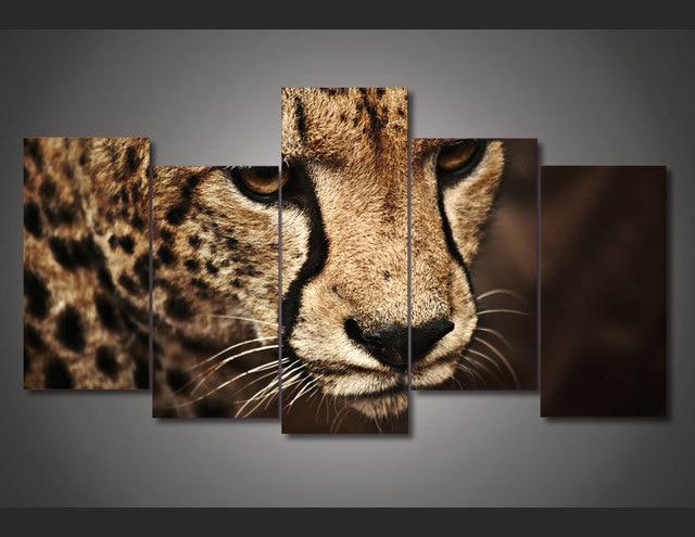 HD Printed Animal cheetah picture Painting wall art room decor print ...