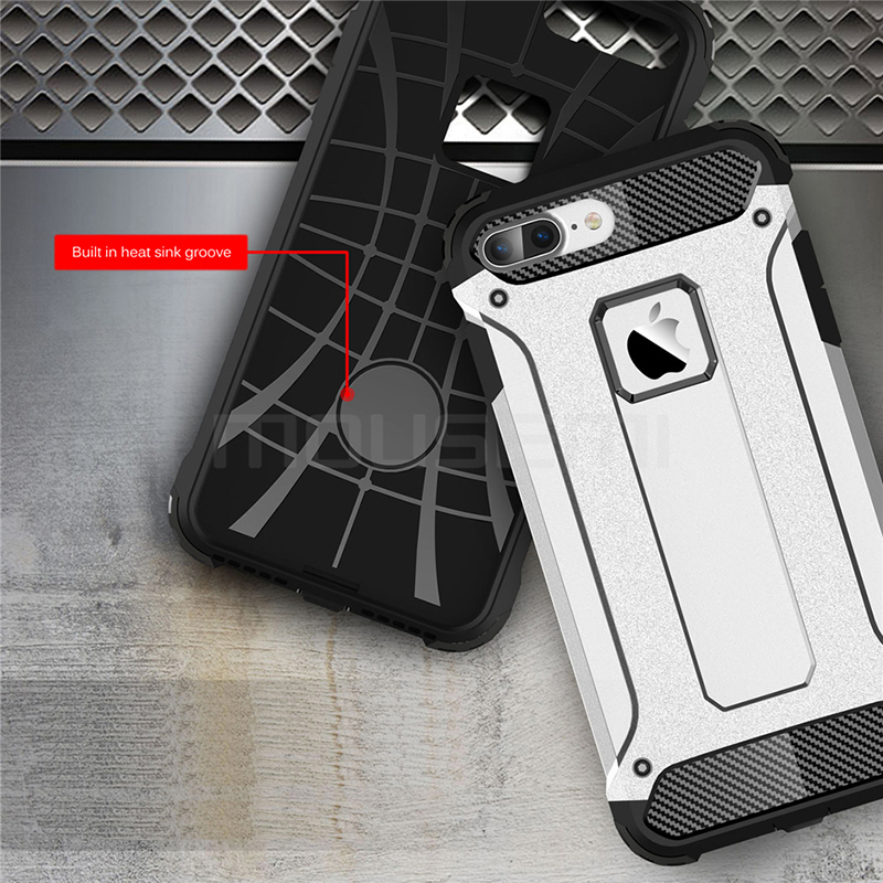 Silicone Luxury Shockproof Hard PC TPU Armor iPhone Case 4