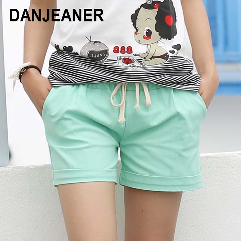 2016 Summer Style Shorts Kvinder Candy Color Elastic With Belt Short - Dametøj - Foto 1