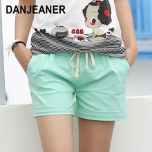 2016 Summer Style Shorts Women Candy Color Elastic With Belt