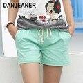 2016 estilo de verano Pantalones cortos, Short Mujer elástica, Color caramelo, con cinturón corto A224