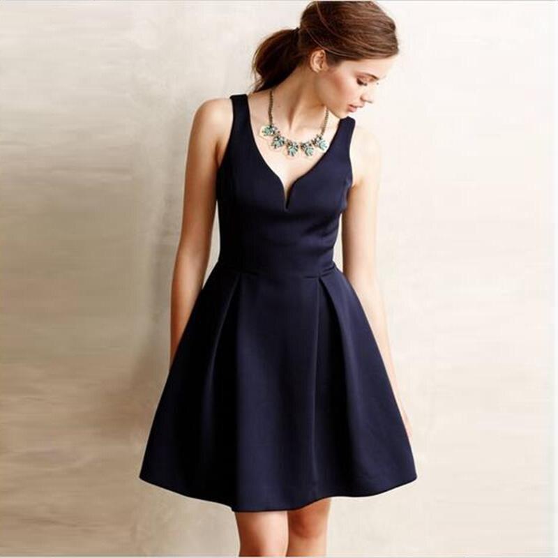 Online Get Cheap Short Navy Blue Cocktail Dress -Aliexpress.com ...