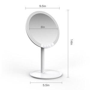 Image 2 - Specchio per il trucco cosmetico con 66 Luci A LED 2000mah Ricaricabile, 180 Gradi di Rotazione, 1x 10x Lente di Ingrandimento con il Basamento e Da Viaggio Specchio