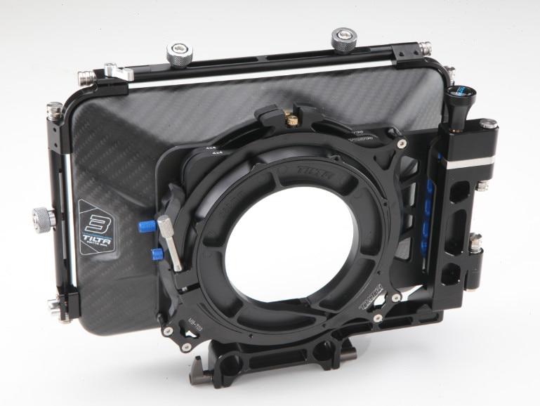 Tilta MB-T03 4*4 Carbon Fiber Matte box for 15mm rail support rig DSLR HDV Rig follow focus free shipping tilta uh t03 dslr universal handgrip for 15mm rod rail system shoulder mount rig free shipping