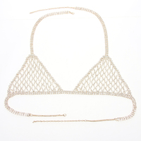 Multi Chains Breast Bra Jewelry Fashion Rhinestone Crystal Breast Sexy Bra waist Bikini Body Chain jewelry BYD40