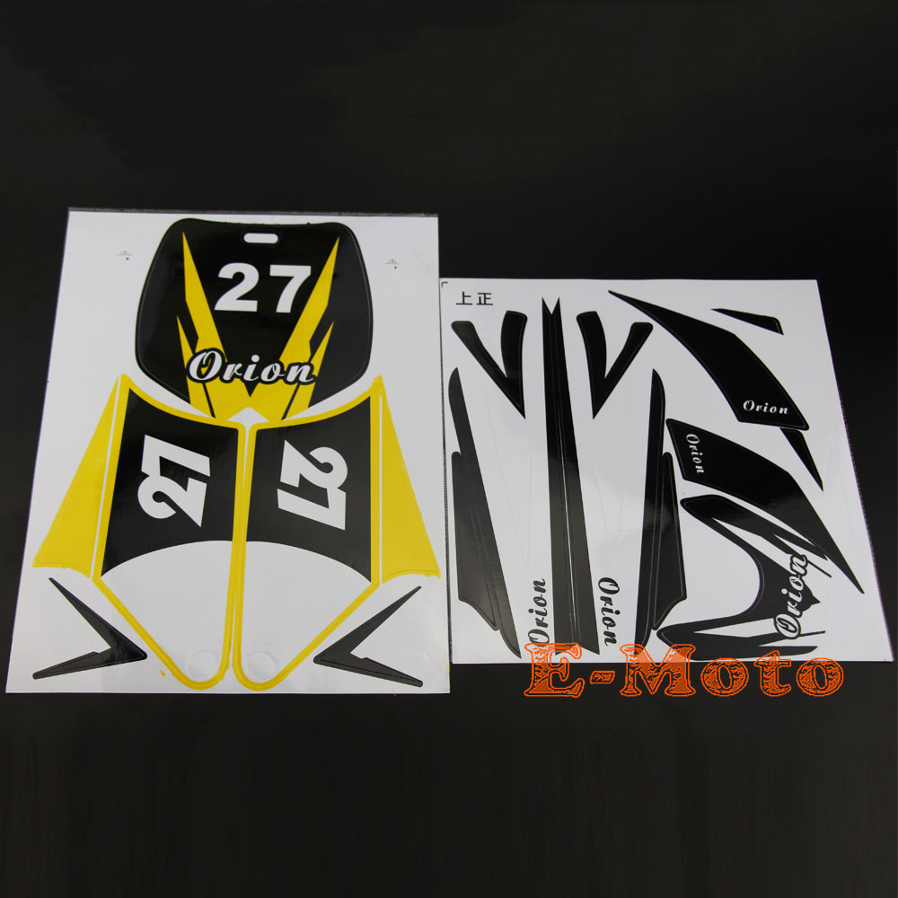 No 27 decal stickers kit for 50cc 70cc 90cc 110cc 125cc dirt pit bike new