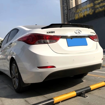 For Hyundai Elantra 2012 2013 2014 2015 2016 Rear Trunk Spoiler High Quality ABS Material Primer Color Car Tail Wing Decoration
