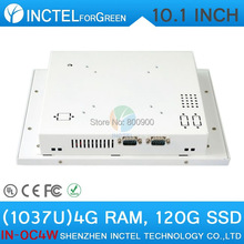 Touch screen All in one pc desktop computer with White Color 1037u processor Windows linux 4G RAM 120G SSD(China (Mainland))