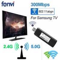 Mini adaptateur Wifi Lan pour TV intelligente Samsung WIS12ABGNX WIS09ABGN 5G 300 Mbps Wifi adaptateur pour ordinateur portable récepteur Audio Wifi
