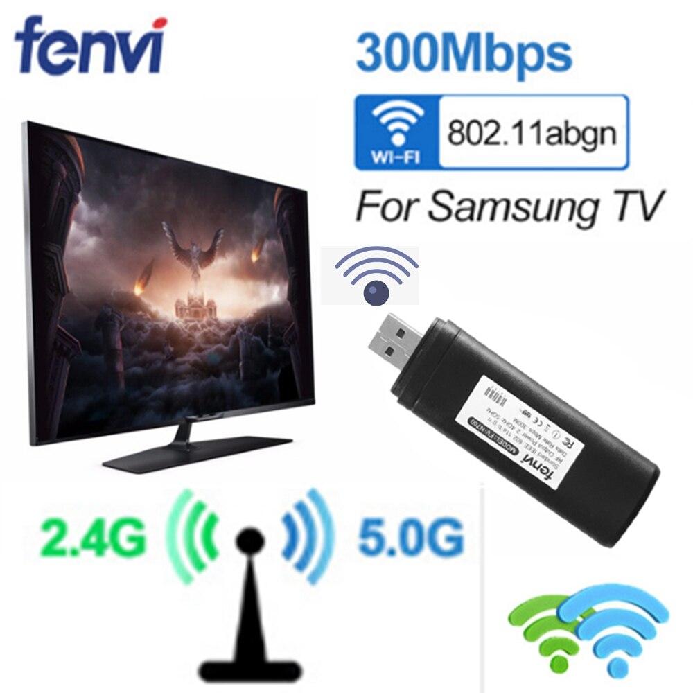 USB Wireless Wi-Fi Netzwerk TV Karte WLAN LAN Adapter Wifi Dongle Empfänger 2,4g 5g 300 mt für Samsung smart TV WIS12ABGNX WIS09ABGN