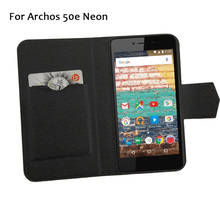 5 Colors Super! Archos 50e Neon Phone Case Leather Full Flip Phone Cover,High Quality Fashion Luxurious Phone Accessories